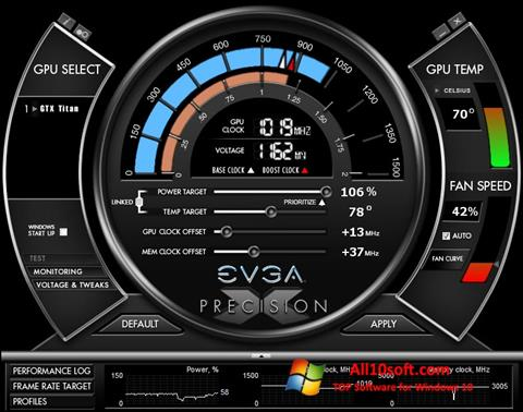 Screenshot EVGA Precision X for Windows 10