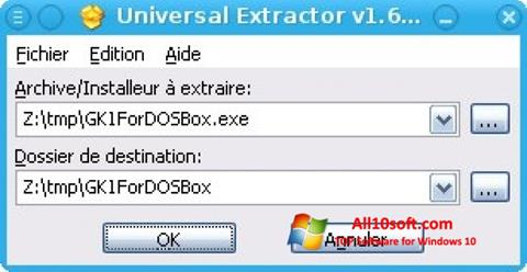 Screenshot Universal Extractor for Windows 10