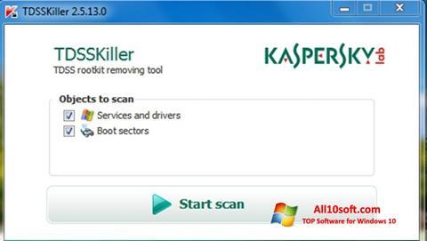 Screenshot Kaspersky TDSSKiller for Windows 10