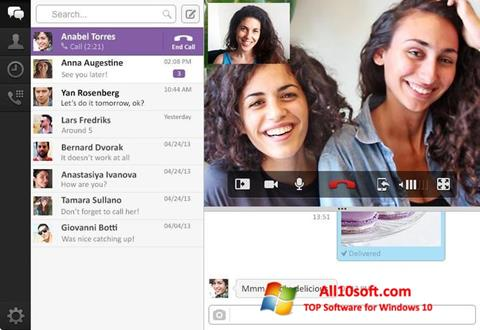Screenshot Viber PC for Windows 10
