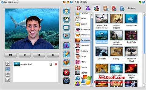 Screenshot WebcamMax for Windows 10