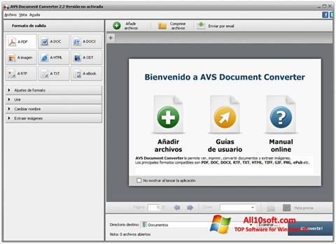 Screenshot AVS Document Converter for Windows 10