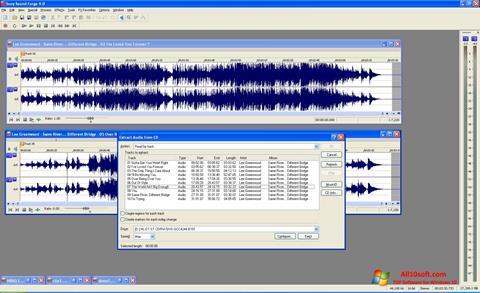 Screenshot Sound Forge for Windows 10