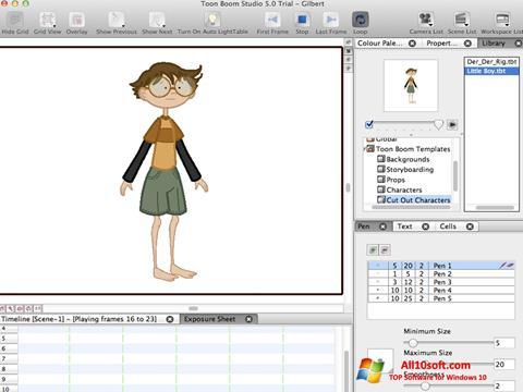 Screenshot Toon Boom Studio for Windows 10