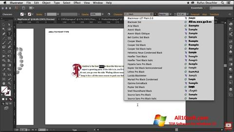 Screenshot Adobe Illustrator for Windows 10