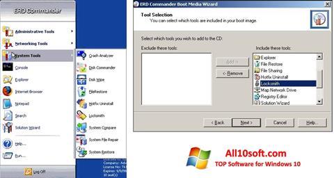 Screenshot ERD Commander for Windows 10