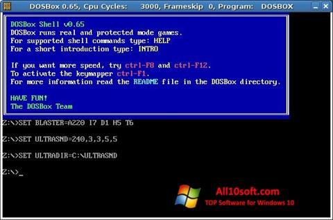 Screenshot DOSBox for Windows 10