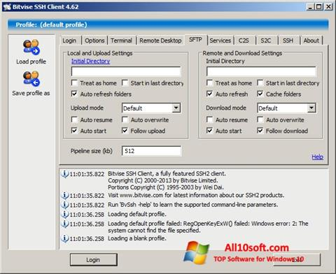 Screenshot Bitvise SSH Client for Windows 10
