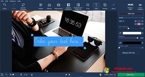 Screenshot Movavi Photo Editor for Windows 10