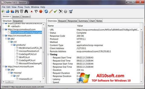 Screenshot Charles for Windows 10