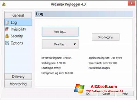Screenshot Ardamax Keylogger for Windows 10