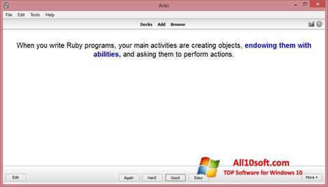 Screenshot Anki for Windows 10