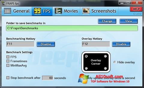 Screenshot Fraps for Windows 10