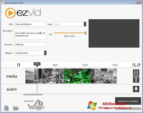 Screenshot Ezvid for Windows 10