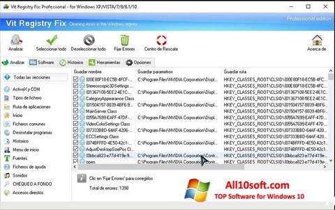 Screenshot Vit Registry Fix for Windows 10