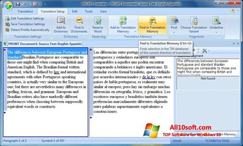 Screenshot PROMT for Windows 10