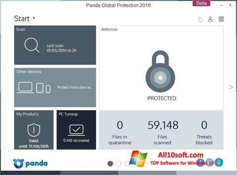 Screenshot Panda Global Protection for Windows 10