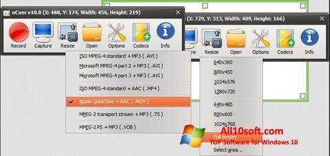 Screenshot oCam Screen Recorder for Windows 10