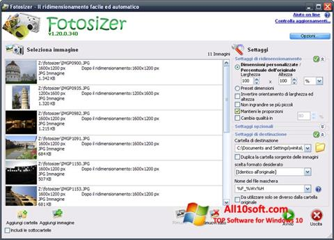 Screenshot Fotosizer for Windows 10