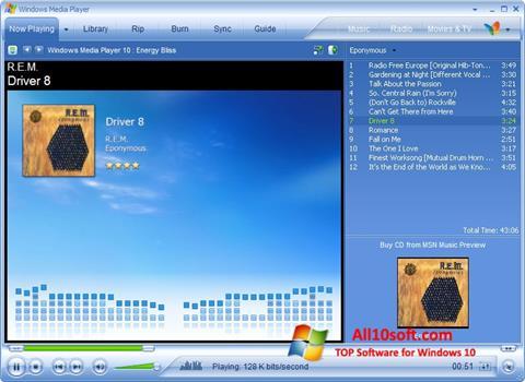 Screenshot Media Player for Windows 10