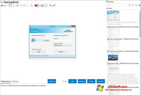 Screenshot AeroAdmin for Windows 10