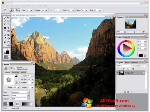 Screenshot Artweaver for Windows 10
