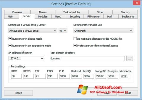 Screenshot Open Server for Windows 10