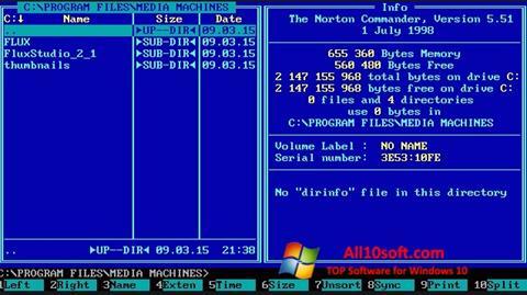 Screenshot Norton Commander for Windows 10