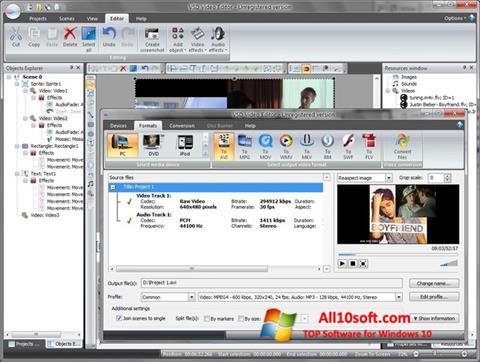 Screenshot Free Video Editor for Windows 10