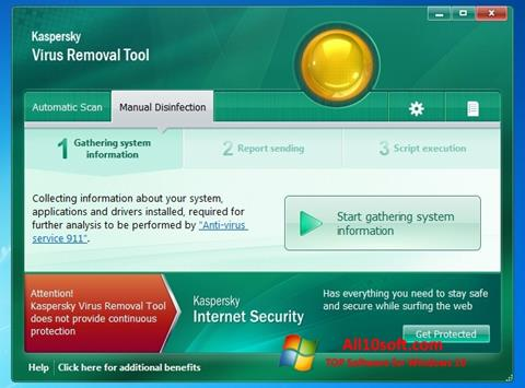 Screenshot Kaspersky Virus Removal Tool for Windows 10