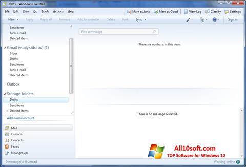Screenshot Windows Live Mail for Windows 10
