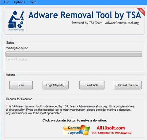 Screenshot Adware Removal Tool for Windows 10
