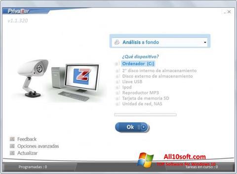Screenshot PrivaZer for Windows 10
