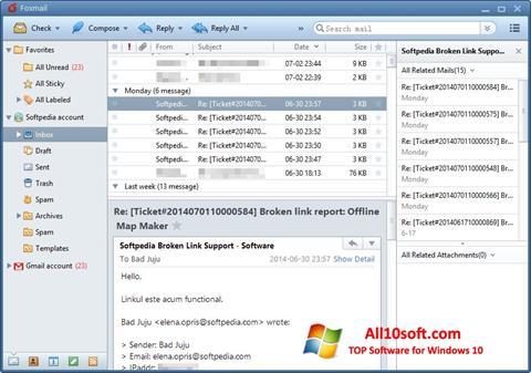 Screenshot FoxMail for Windows 10