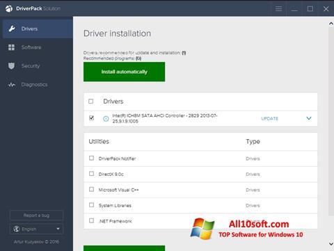 Screenshot DriverPack Solution for Windows 10