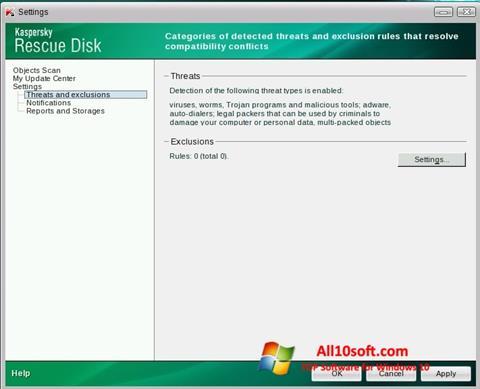 Screenshot Kaspersky Rescue Disk for Windows 10