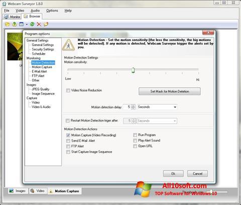 Screenshot Webcam Surveyor for Windows 10