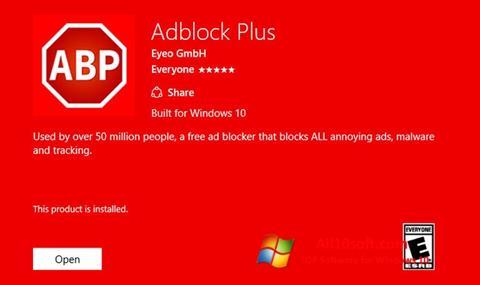 Screenshot Adblock Plus for Windows 10