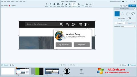 Screenshot Snagit for Windows 10
