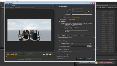 Screenshot Adobe Media Encoder for Windows 10