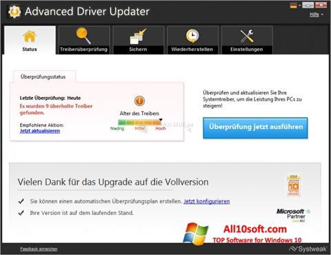 Screenshot Advanced Driver Updater for Windows 10