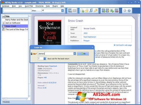Screenshot All My Books for Windows 10