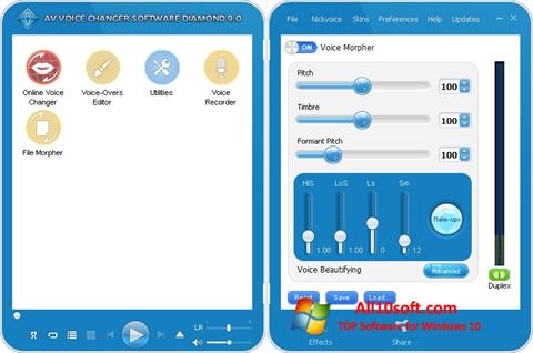 Screenshot AV Voice Changer Diamond for Windows 10