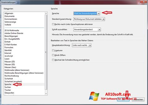 Screenshot Adobe Reader for Windows 10
