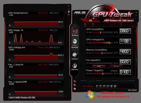 Screenshot ASUS GPU Tweak for Windows 10