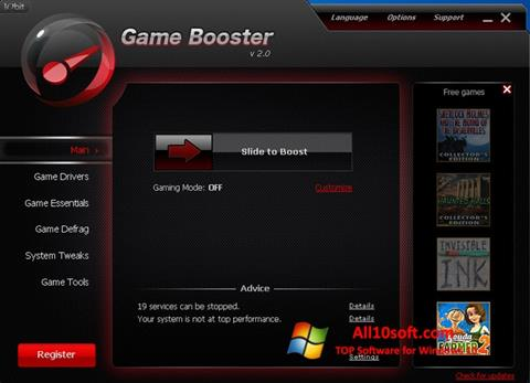 Download Game Booster for Windows 10 (32/64 bit) in English