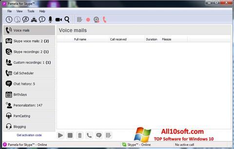 Screenshot Pamela for Skype for Windows 10