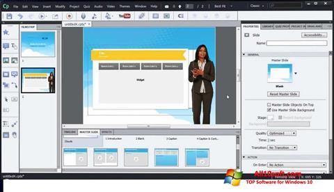 Screenshot Adobe Captivate for Windows 10