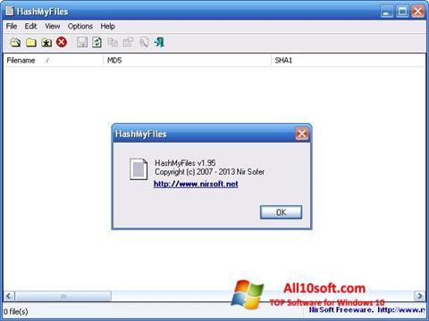 Screenshot HashMyFiles for Windows 10