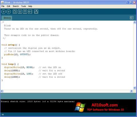 Screenshot Arduino for Windows 10